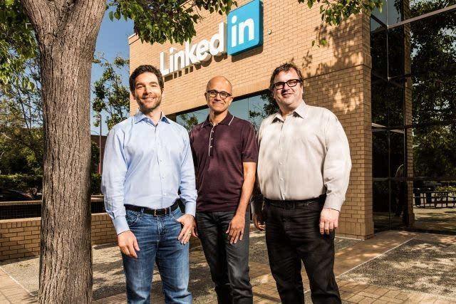 微软将以262亿美元收购LinkedIn的照片 - 1