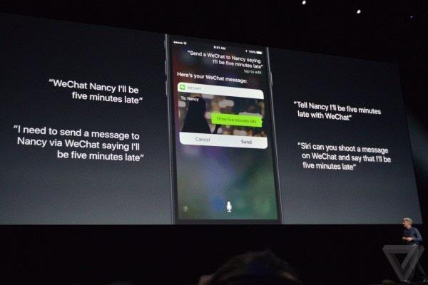 苹果介绍iOS 10:Siri支持第三方应用 对开发者开放的照片 - 17