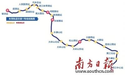 东莞地铁一号线勘察开工图片