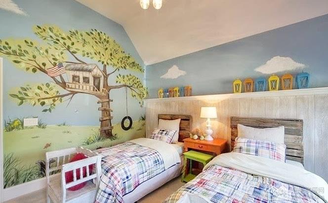 七彩童年 儿童房手绘墙设计五大要点