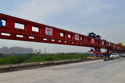 中铁十一局西成项目部联络线特大桥架梁机架梁正式启动