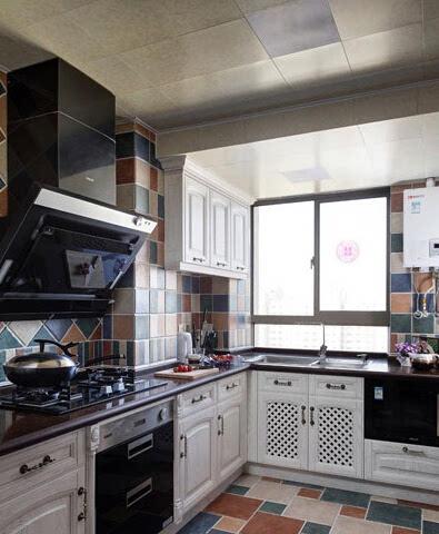 8个现代厨房装修设计效果图 l型比一字型的有料(图)