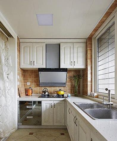 8个现代厨房装修设计效果图 l型比一字型的有料(图)厨房是家居中的图片