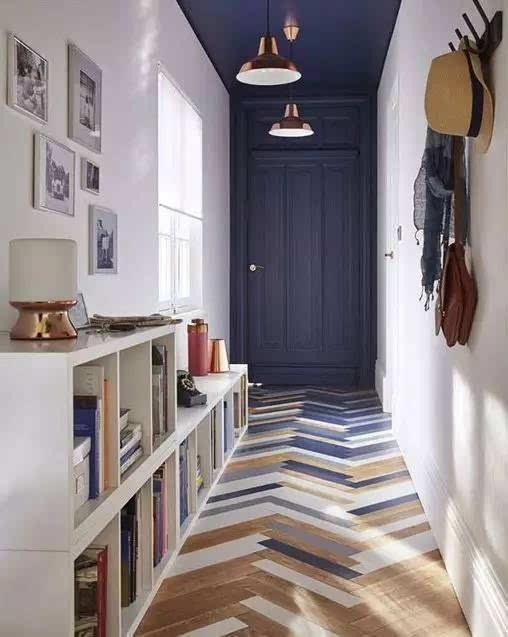 独特搭配才能让访客印象深刻 ▲ 拼花硬木地板还铺成席纹 真是各式各