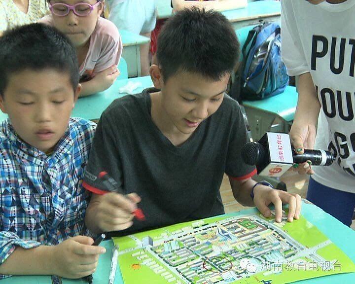 [教视新闻]长沙小学生手绘地图标注校园安全隐患点