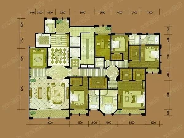 别墅内部空间结构图