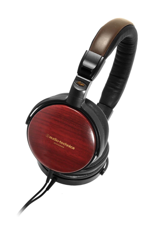 W9A 铁三角头戴式木质耳机 海淘
