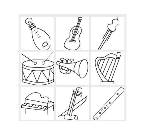 乐器简笔画_简笔画绘画教程之各种乐器动态教程图,看过就能教孩子!