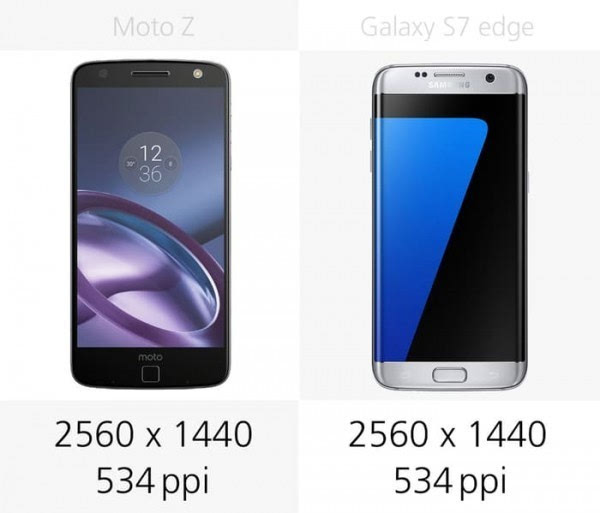 Moto Z和三星Galaxy S7 edge规格参数对比的照片 - 8