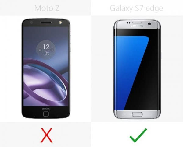 Moto Z和三星Galaxy S7 edge规格参数对比的照片 - 11