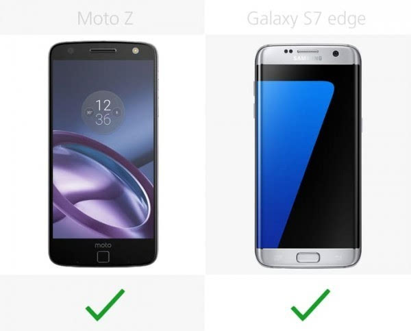 Moto Z和三星Galaxy S7 edge规格参数对比的照片 - 16
