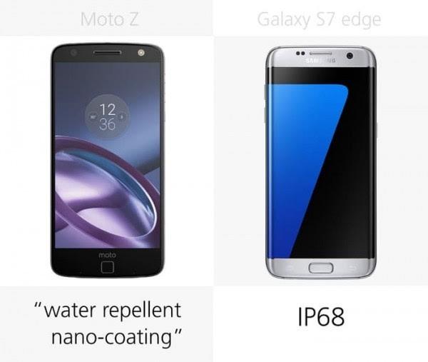 Moto Z和三星Galaxy S7 edge规格参数对比的照片 - 24