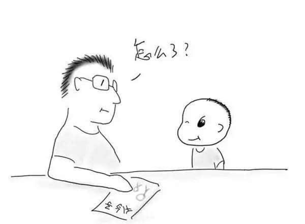 爸爸简笔画全身正面