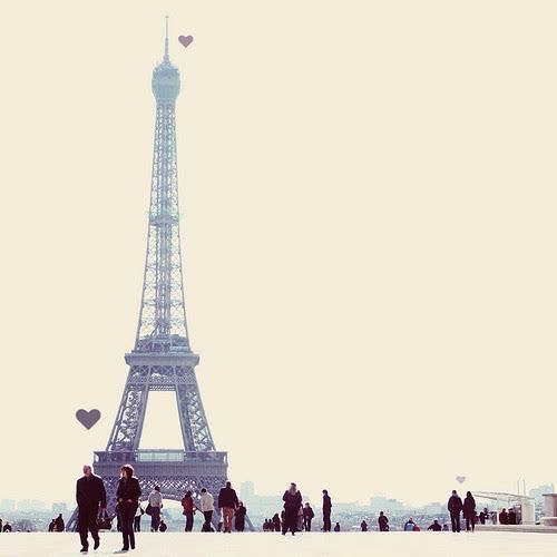 埃菲尔铁塔唯美图片 属于巴黎的浪漫爱情