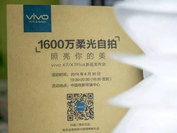 主打柔光灯自拍:vivo X7/X7 Plus邀请函亮相的照片 - 2
