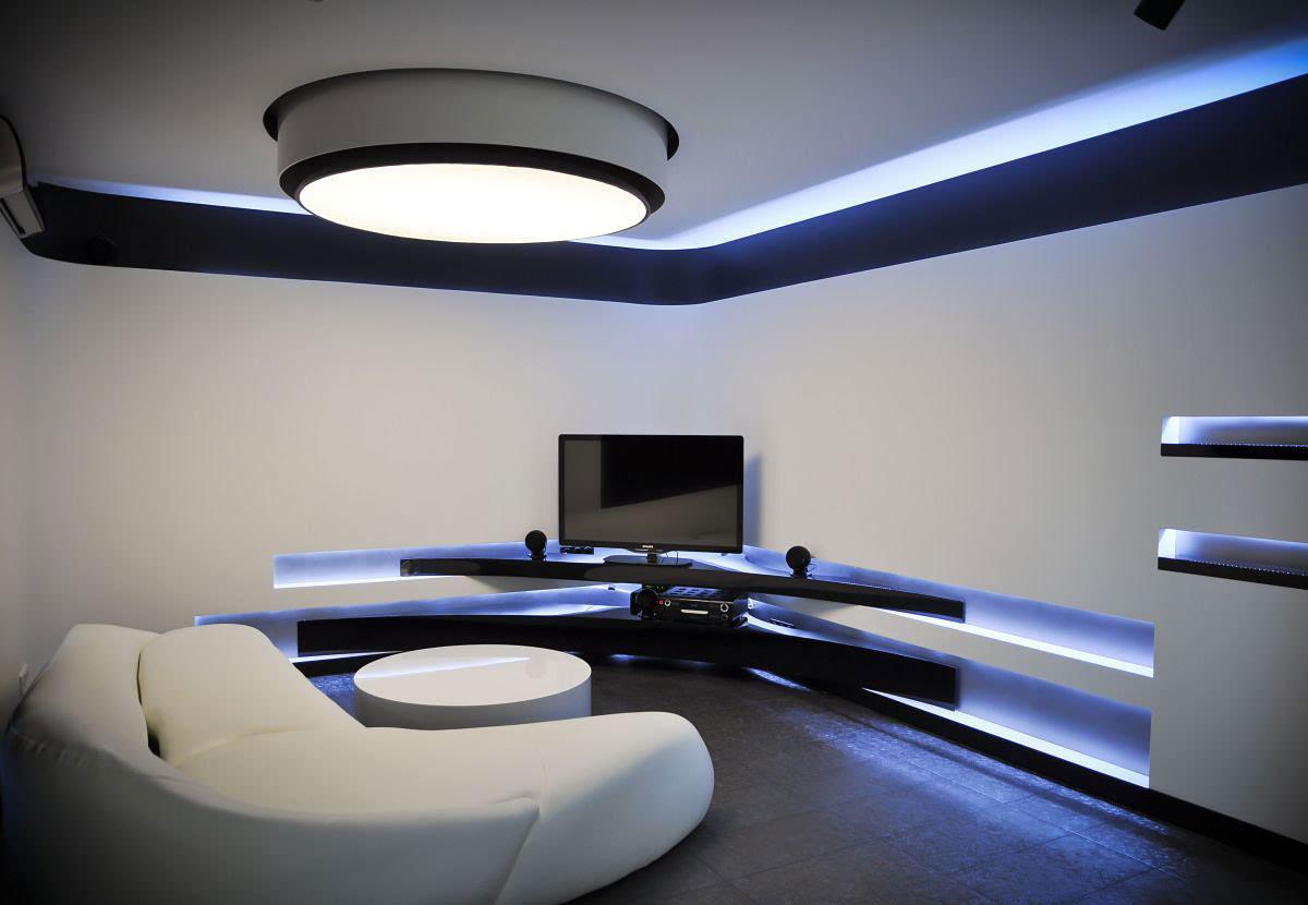 loft复式楼装修效果图_冷色调的精彩