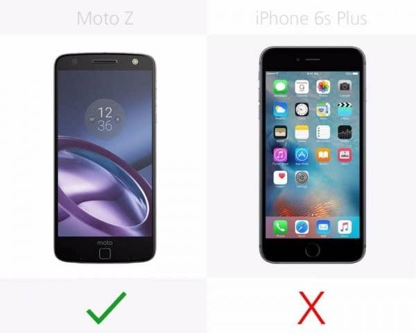 Moto Z和iPhone 6s Plus规格参数对比的照片 - 5