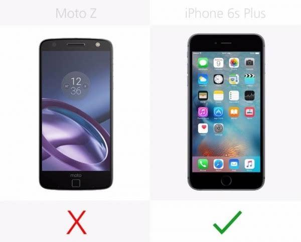 Moto Z和iPhone 6s Plus规格参数对比的照片 - 10