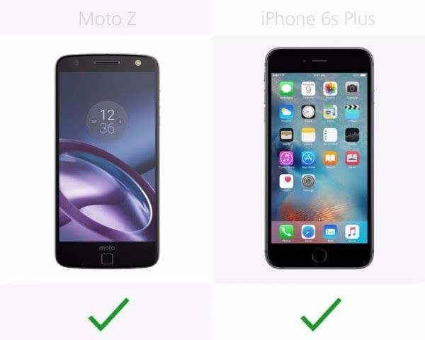 Moto Z和iPhone 6s Plus规格参数对比的照片 - 11