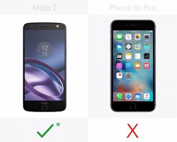 Moto Z和iPhone 6s Plus规格参数对比的照片 - 12