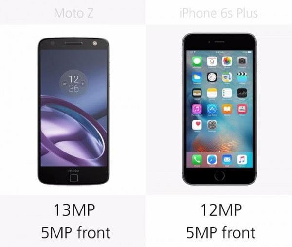 Moto Z和iPhone 6s Plus规格参数对比的照片 - 16