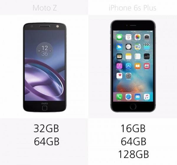 Moto Z和iPhone 6s Plus规格参数对比的照片 - 22