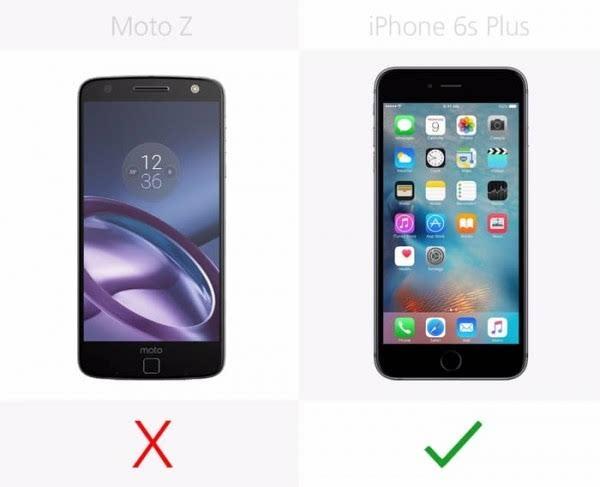 Moto Z和iPhone 6s Plus规格参数对比的照片 - 25