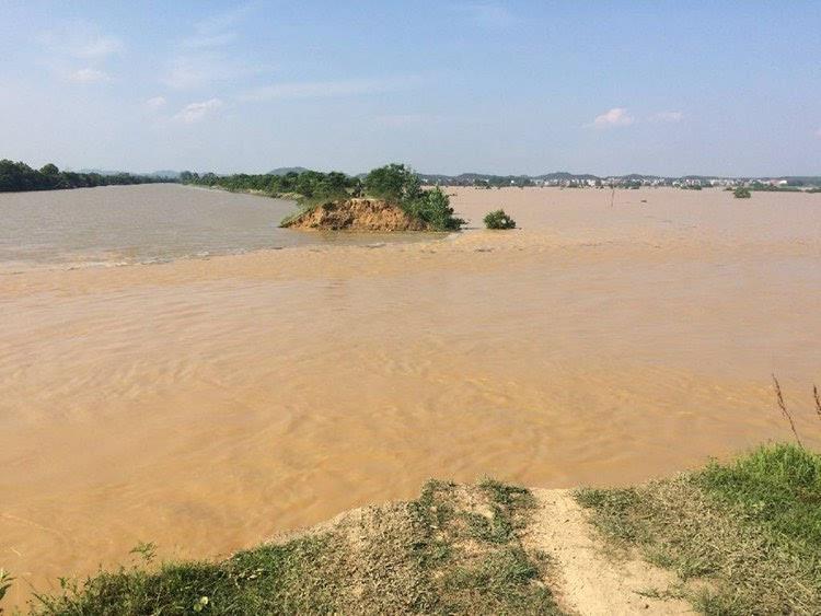 直击江西鄱阳河堤溃口段封堵