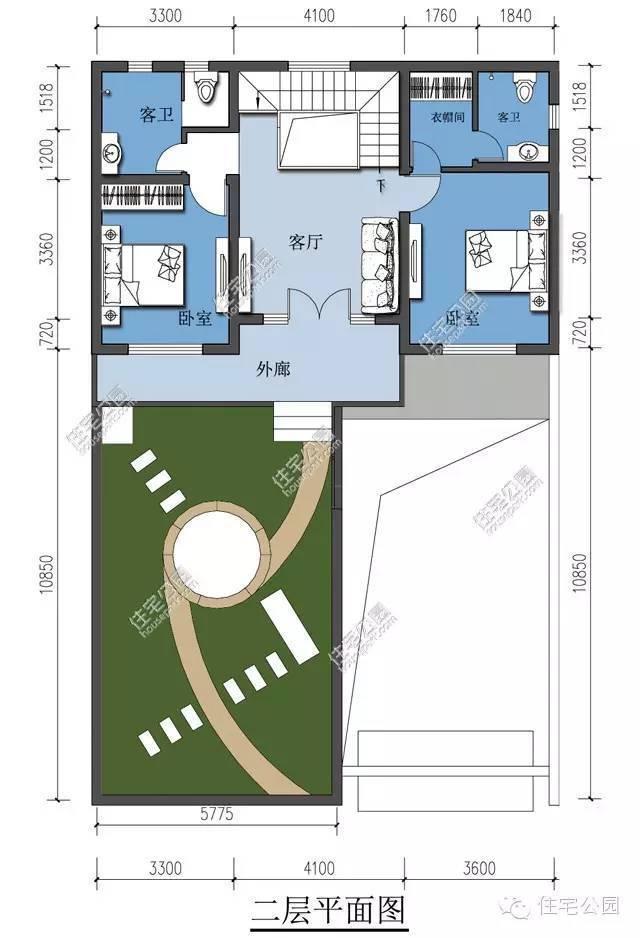 户型一 长 x 宽:12x11米 建筑面积:233平方米 户型二 长 x 宽:17.