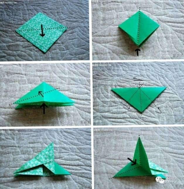 通过折纸活动可使幼儿认识空间方位,建立几何物体的概念,发展手的动作