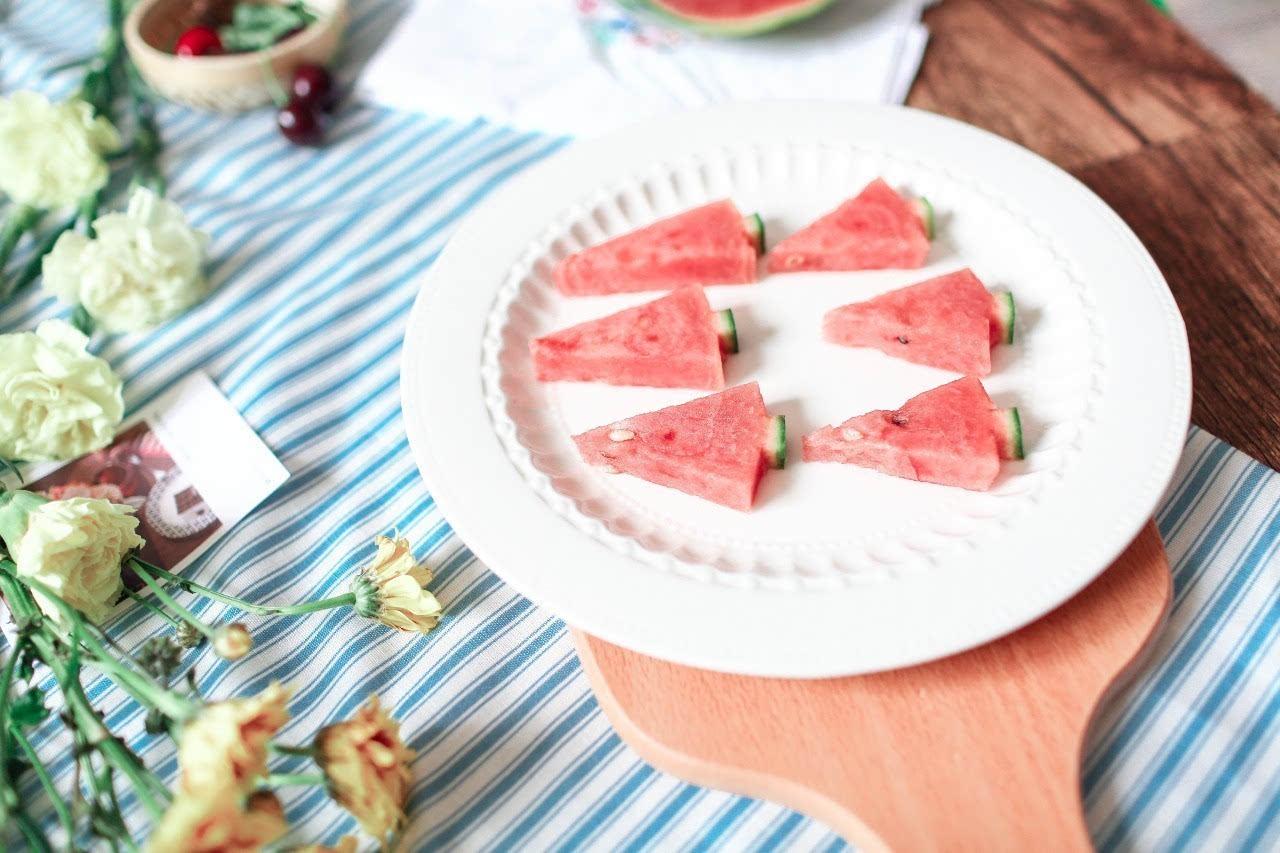 其它 正文  少女们都喜欢的一种切法,萌萌哒西瓜树,既满足了颜控又好