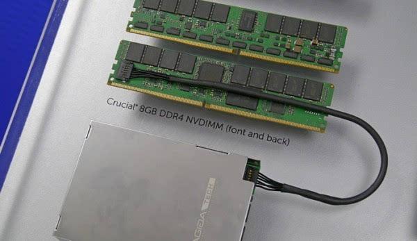 美光出货全球首个8GB NVDIMM内存 断电也不丢数据了的照片 - 1