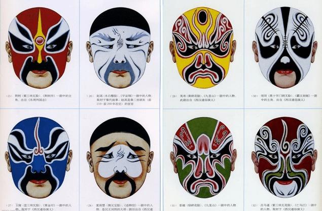小丑脸谱手绘图片