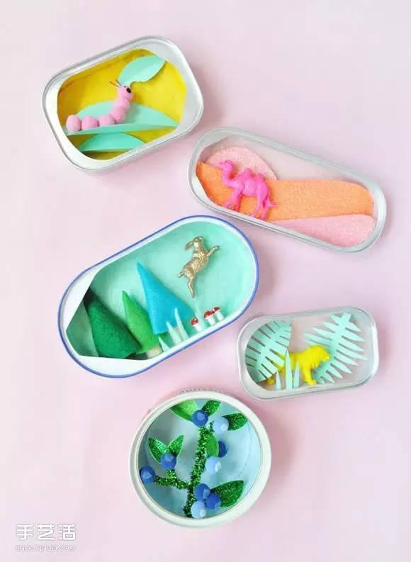 [废品再造]罐头盒废物创意diy童话书般的小手工艺品[60622期]图片