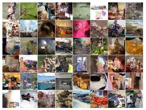 我们的模型在imagenet上训练的32 × 32结果样本