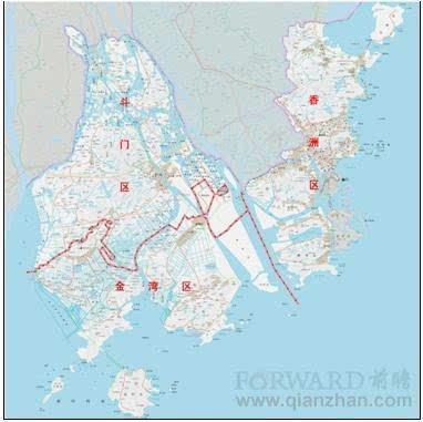 42万,现辖香洲,斗门,金湾3个市辖区. 1961年恢复珠海县建制.图片
