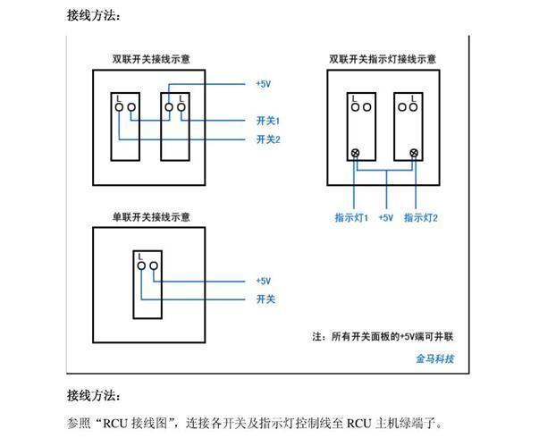 客房控制系统设备接线说明