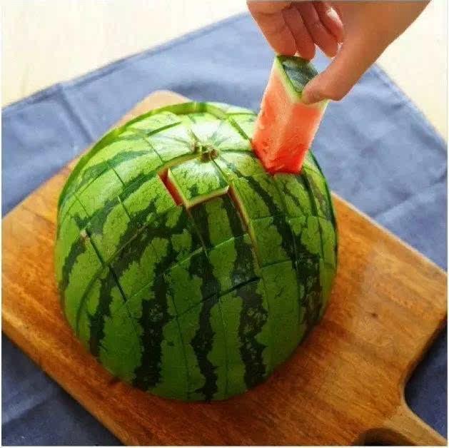 西瓜的花样切法,在这里图片