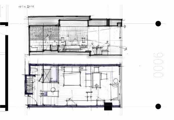 [推荐]手绘酒店客房设计