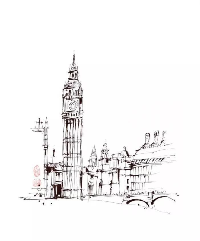 伦敦大本钟可为是其地标建筑,它每走一小时,发出深沉而又铿锵的报时声