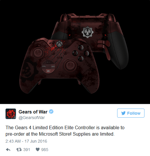 《战争机器4》限量版Xbox精英无线手柄开始接受预定的照片 - 2