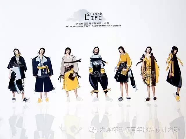 2016大连杯青年作品各种绘制sw弹簧文章服装设计v青年入围1国际效图片