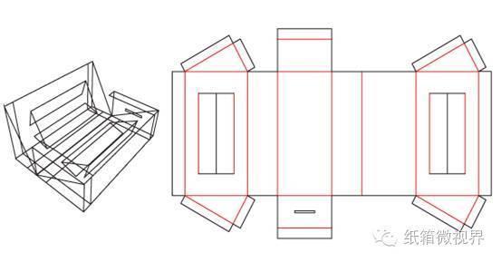 [箱型设计]瓦楞纸箱异型箱结构设计