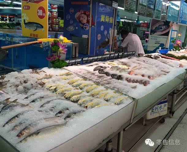 超市鲜鱼创意陈列图片