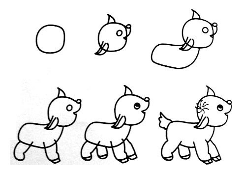 一笔一笔学画画~小动物