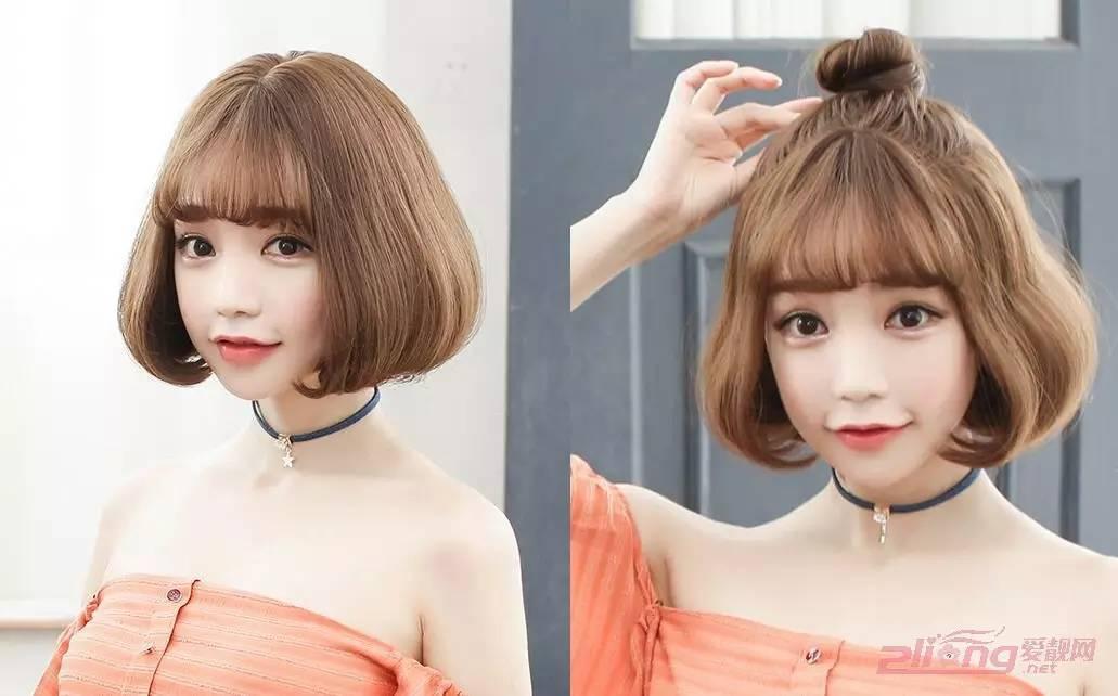 潮感十足的女生波波头烫发发型图片图片
