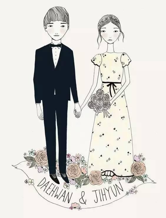 为这暖暖萌萌的手绘请柬,我愿意结婚!