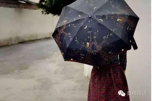 雨伞的内部结构图