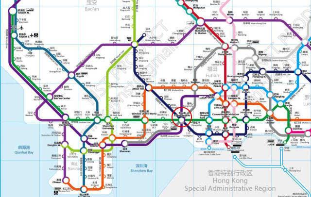 深圳地铁规划图