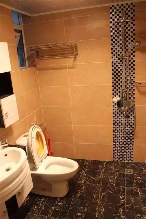 3,实在空间太小,那就让淋浴和马桶结合吧